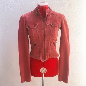 Abercrombie & Fitch Coral Corduroy Fitted Jacket